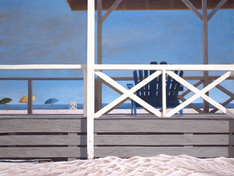 Painting by Tom Mielko, Beachside Galley