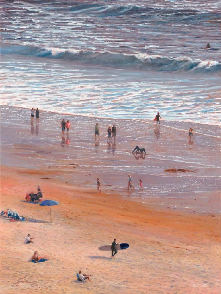 Painting by Tom Mielko, Pacific Holiday