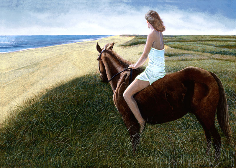 Lady on Chestnut Mare - Tom Mielko