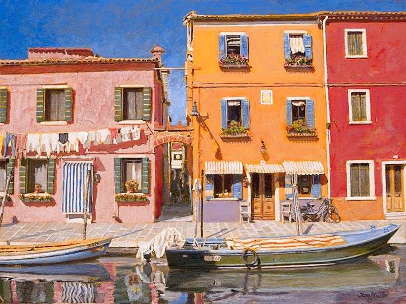 Painting by Tom Mielko - Beautiful Burano